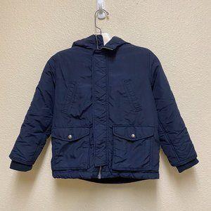Lands' End Navy Blue Parka Coat Boys Size 7